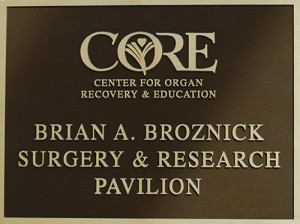 Research center sign